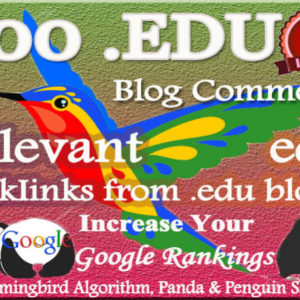 Relevant High DA EDU Blog Comment Backlinks